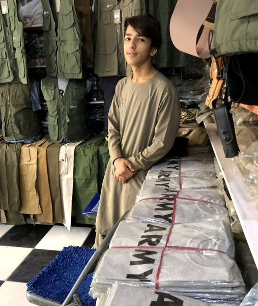 T-shirts with the word Army in the 'Bush Market'