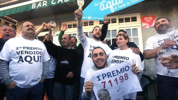 Imagen de archivo de la celebración de la Lotería en Villalba, el año pasado