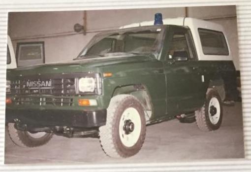 Patrol de la Guardia Civil preparado en Ávila, 1987