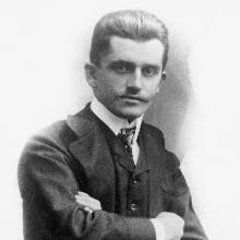 El profesor Ferdinand Porsche en una imagen de su juventud