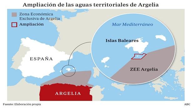 Argelia amplió de forma unilateral sus aguas hasta la isla de Cabrera