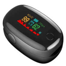 With an oximeter you can know the level of oxygen saturation in the blood.  / Aliexpress