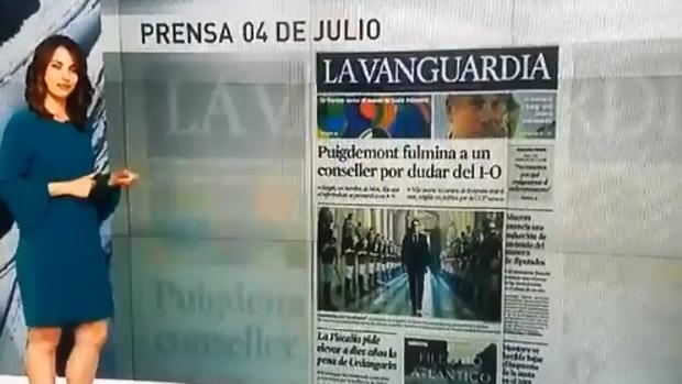 La presentadora de las Noticias de la Mañana de Antena 3 comete un error en directo