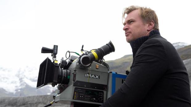 Christopher Nolan, durante el rodaje de «Interstellar»