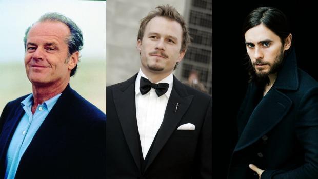 Jack Nicholson, Heath Ledger y Jared Leto (de izquierda a derecha)