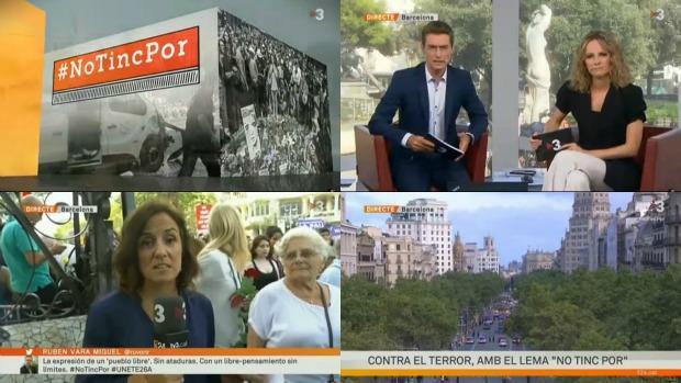 Retransmisión de la manifestación por TV3