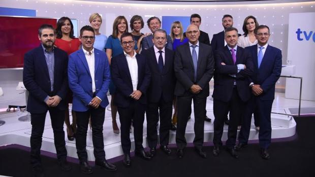 La alineación del nuevo equipo de TVE