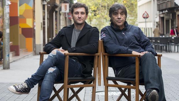 Raúl Arévalo, protagonista de «Oro», junto al director de la película, Agustín Díaz Yanes