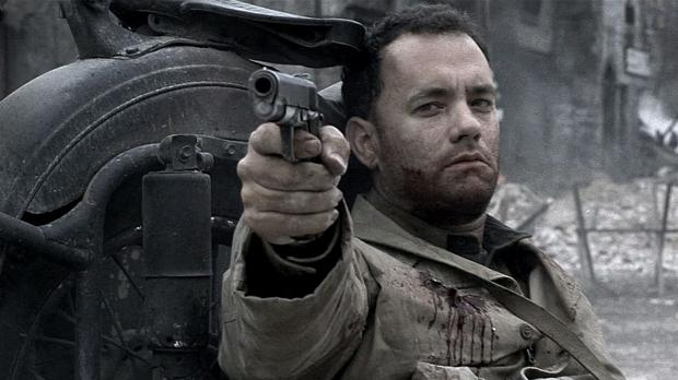 Toma Hanks, en una escena de «Salvar al soldado Ryan»