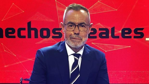 Jordi González en el plató de «Hechos reales»