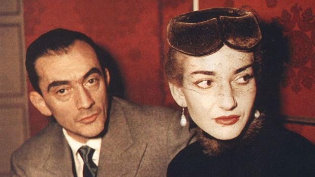 Maria Callas, con el director Luchino Visconti