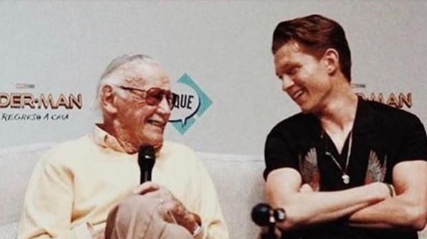 Stan Lee y Tom Holland