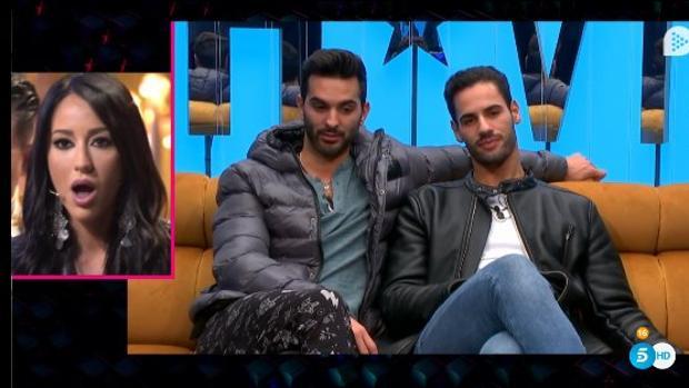 Suso y Asraf, junto a Aurah Ruiz en «GH VIP»
