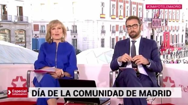 María Rey, durante la conexión especial de Telemadrid del 2 de mayo