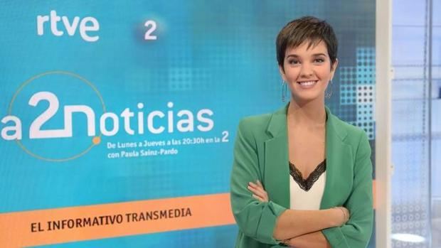 Paula Sainz-Pardo, presentadora de La 2 Noticias