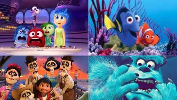 Escenas de «Monstruos S.A», «Coco», «Del Revés» y «Buscando a Nemo»