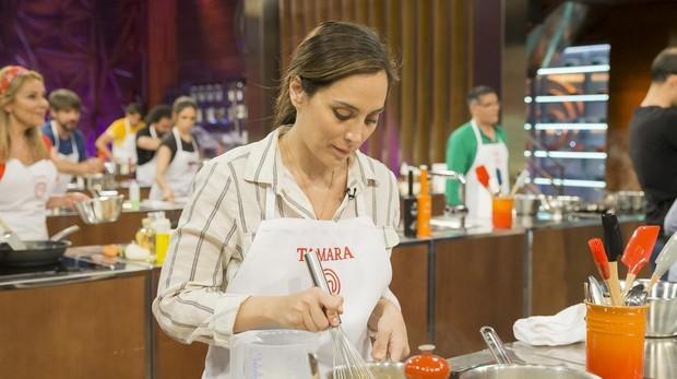 Tamara Falcó, en las cocinas del concurso