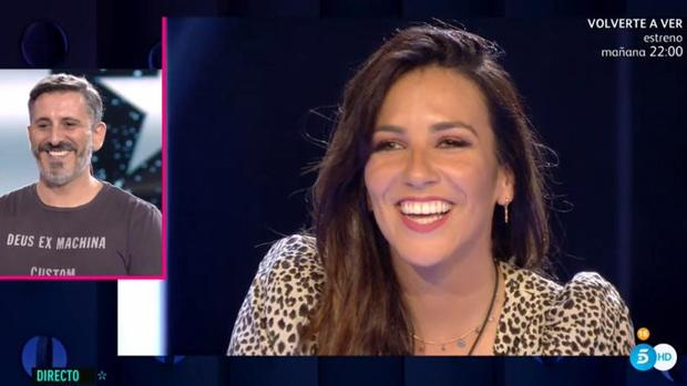 Irene Junquera habla con su hermano Jorge durante la gala de «GH VIP» del pasado jueves