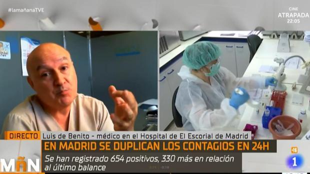 Polémica entrevista en TVE a un médico que niega el riesgo de colapso sanitario