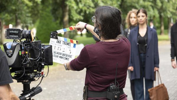 Maribel Verdú, durante el rodaje de 'Ana Tramel'