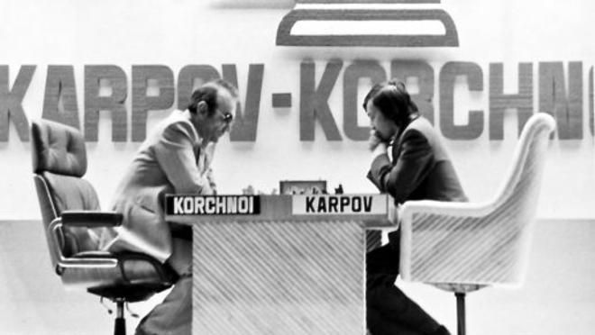 Real image of the duel between Karpov and Korchnoi in 1978