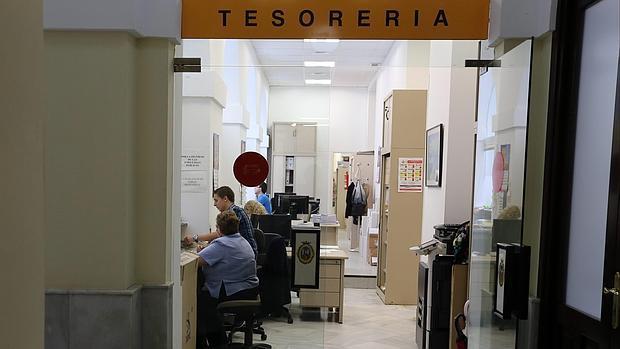 Sección de Tesorería del Ayuntamiento de Cádiz
