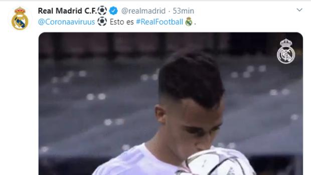 Lucas Vázquez, el coronavirus y el extraño tuit del Real Madrid