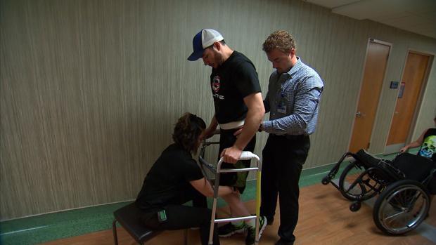 Un paciente con lesión medular