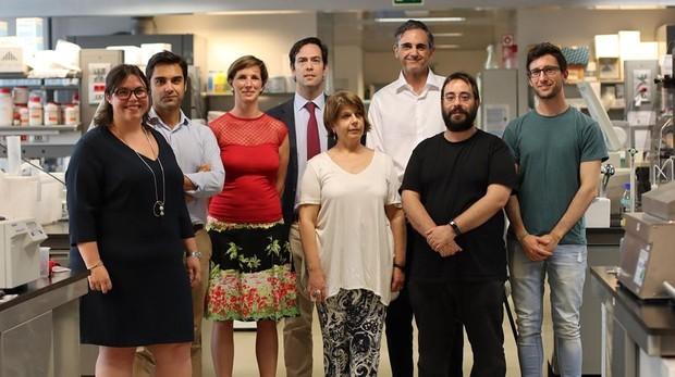 De izda. a dcha Marta Román, Fernando Domínguez, Laura Padrón-Barthe, Pablo García-Pavía, Giovanna Giovinazzo, Enrique Lara-Pezzi, Demetrio J. Santiago y Javier Larrasa-Alonso.