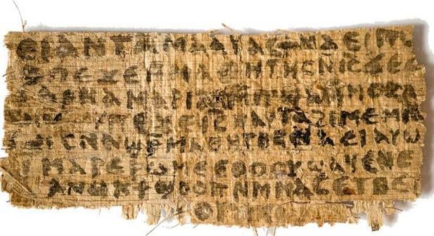 El papiro del llamado «evangelio de la esposa de Jesús»