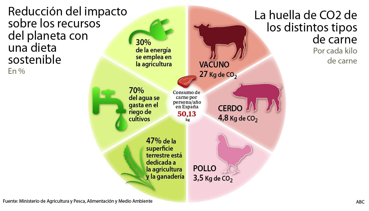 Resultado de imagen para huella de carbono de la carne
