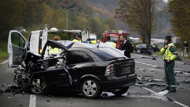 Dos personas fallecieron en este accidente ocurrido en noviembre en Oieregi (Navarra)