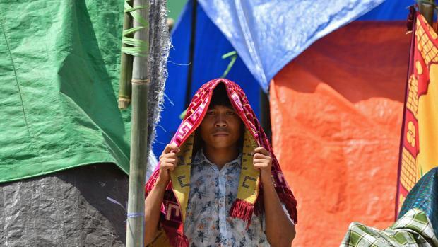 Imagen de un ciudadano indoneso en Lombok