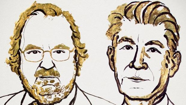 Retrato de James Allison y Tasuku Honjo