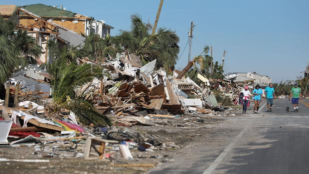 El huracán, tras su paso por Florida