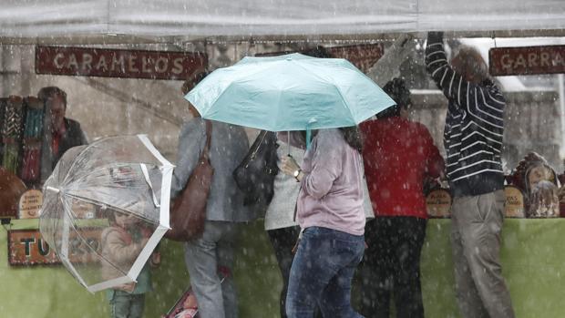 Pamplona sufre los efectos del huracán Leslie