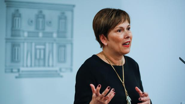 La presidenta de Navarra, Uxue Barkos, la semana pasada