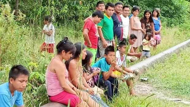 El oleducto de Petroperú atraviesa la comunidad wampi en en el poblado de Mayuriaga en plena Amazonia peruana