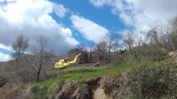 Imagen de las labores de rescate