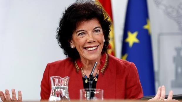 La ministra de Educación y FP, Isabel Celaá