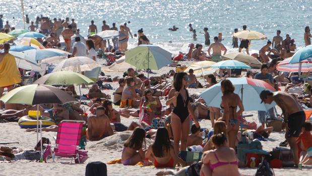 Imagen reciente de una playa en Vigo