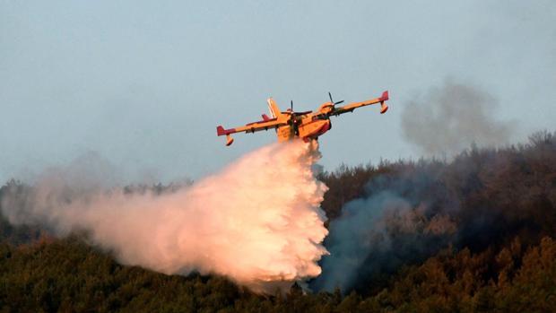 El incendio forestal de La Granja de San Ildefonso