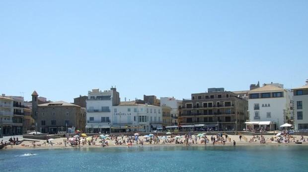 Imagen de la playa de L'Escala (Gerona)