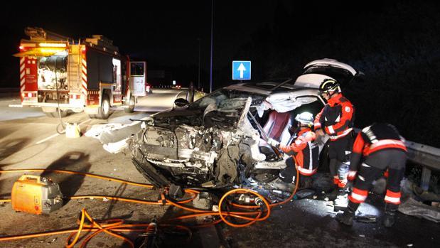 Accidente en la autopista en una imagen de archivo