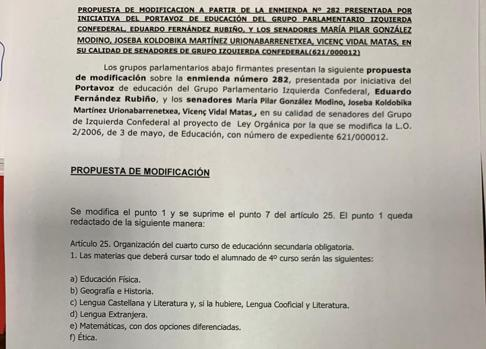 More Madrid proposal to introduce Ethics in 4th of ESO
