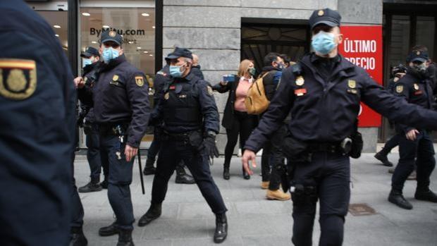 La Policía Nacional ha tenido que intervenir en la manifestación