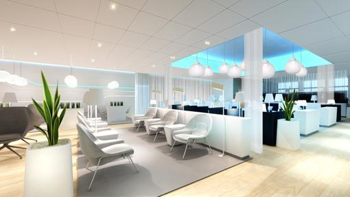 Sala premium del aeropuerto finlandés