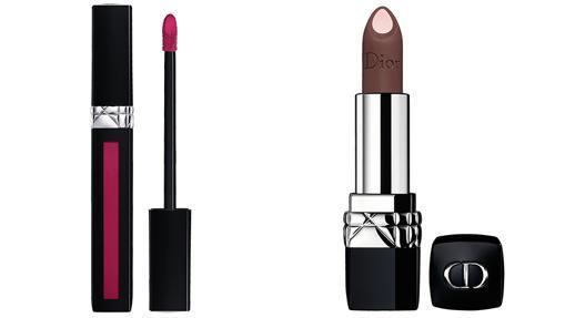 Los nuevos labiales de Dior ofrecen tonos osados.