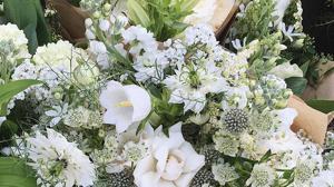 La decoración floral captó la atención de los asistentes