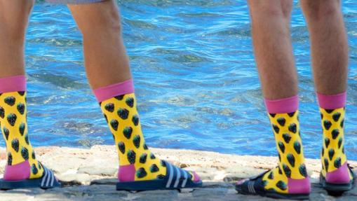 Los calcetines en verano, con mesura